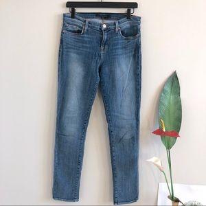 J BRAND Rail Straight Leg Jeans in Tone